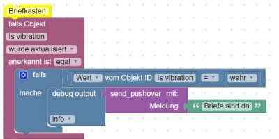 Briefkasten smart machen, ioBroker script