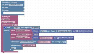 ioBroker Blockly Script für Gaszähler