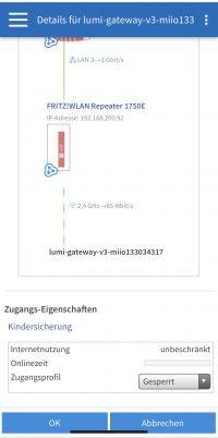Xiaomi Mija Hub den Internetzugang sperren