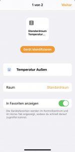 Einzelnes Gerät aus ioBroker in Home Kit konfigurieren