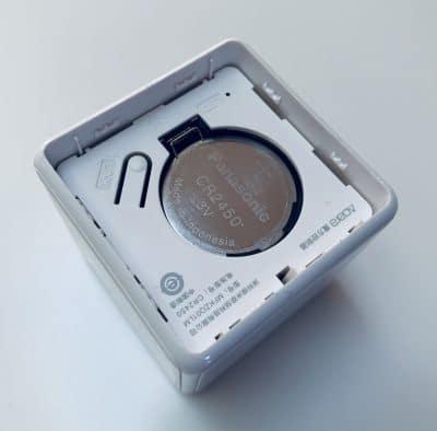 Xiaomi Aqara Cube, Ansicht Batterie Fach