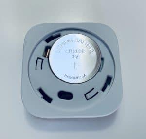 Xiaomi Aqara vibration Sensor, Ansicht Batterie