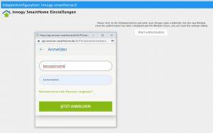 Authentifizierung des Innogy Adapters in ioBroker