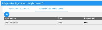 Fullybrowser in ioBroker konfigurieren