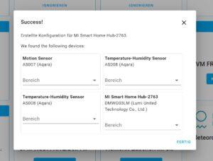 Xiaomi Mi Smarthome erfolgreich in Home Assistant eingebunden