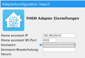 Home assistant Adapter in ioBroker einrichten