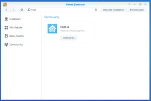 Home assistant auf Synology als Docker-Paket installieren