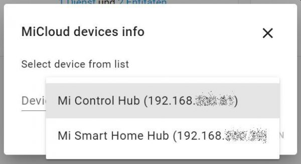 XiaomiGateway3 micloud Integration