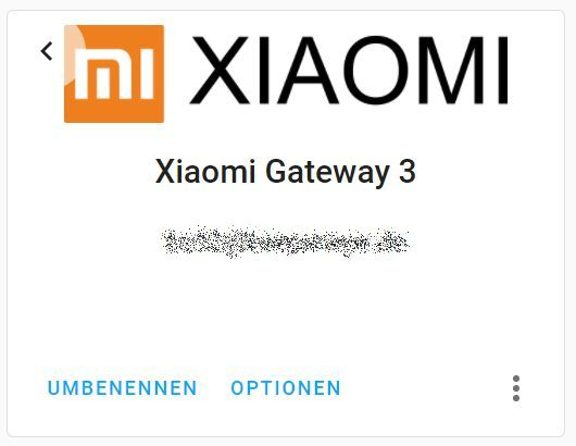 Xiaomi Gateway 3 home assistant Integration