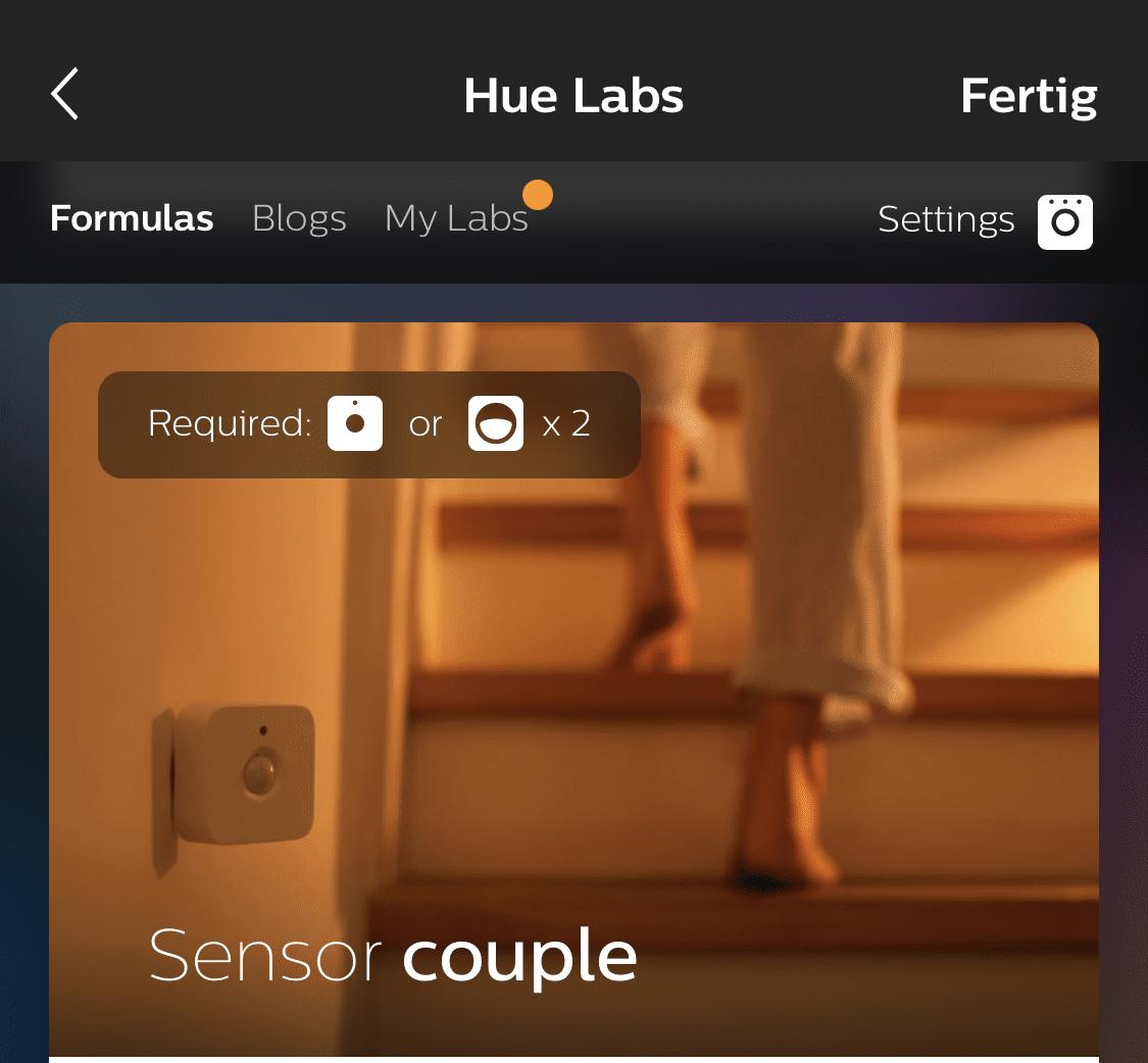 Sensor Couple in hue labs