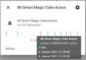 Xiaomi Magic Cube Rubikswürfel in ioBroker