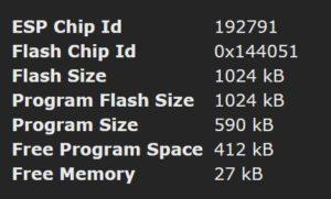Speicherplatz für Tasmota auf ESP8266 Chip