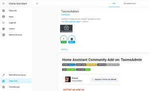 TasmoAdmin in Home Assistant installieren