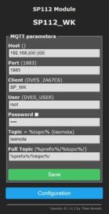 Tasmota Konfiguration für ioBroker sonoff MQTT