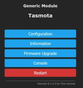 Tasmota nach tuya-convert flash