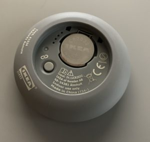 Tradfri Fernbedienung pairing button