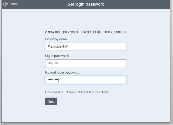 deCONZ einrichten Passwort setzen