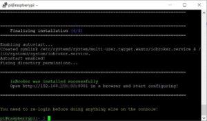 ioBroker erfolgreich auf raspberry PI installiert