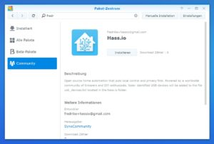 Home Assistant community Paket Synology