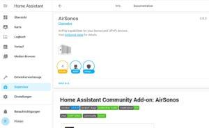 AirSonos auf Home Assistant installieren