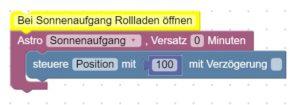 Blockly Script für Rollladensteuerung mit Shelly 2.5 in ioBroker