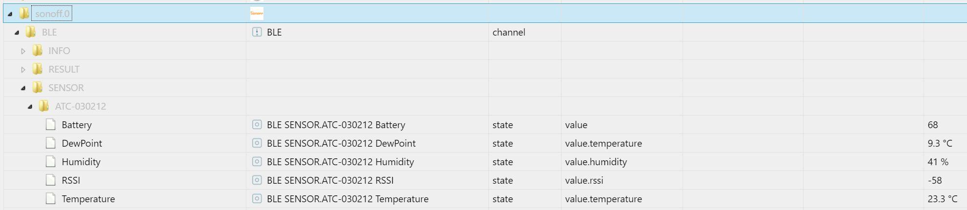 Objekte in ioBroker für ESP32/Tasmota