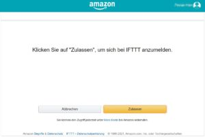 Alexa Integration in IFTTT zulassen