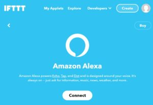 Alexa Integration in IFTTT connect