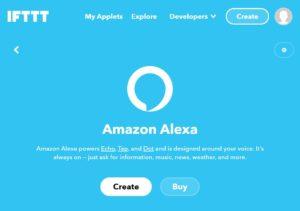 Alexa Integration in IFTTT create