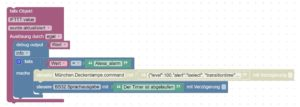 Blockly Script für Alexa Timer Alarm in ioBroker