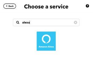 Alexa Integration in IFTTT suchen