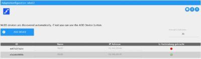 WLED Adapter in ioBroker erkennt devices automatisch