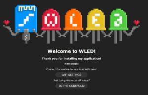WLED Startseite initiale Konfiguration