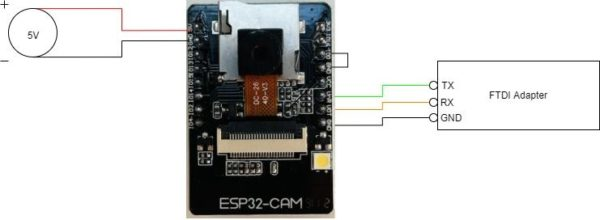 ESP32 cam an FTDI anschließen