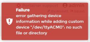 Fehlermeldung Docker ioBroker USB-Devices DSM7