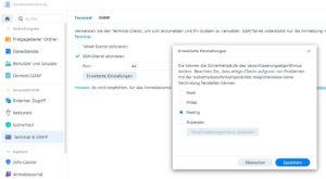 SSH Zugriff in DSM 7 konfigurieren