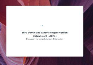 Erste Anmeldung DSM7 auf Synology Diskstation