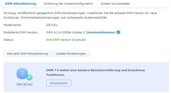 DSM 7 Installation Schritt 1